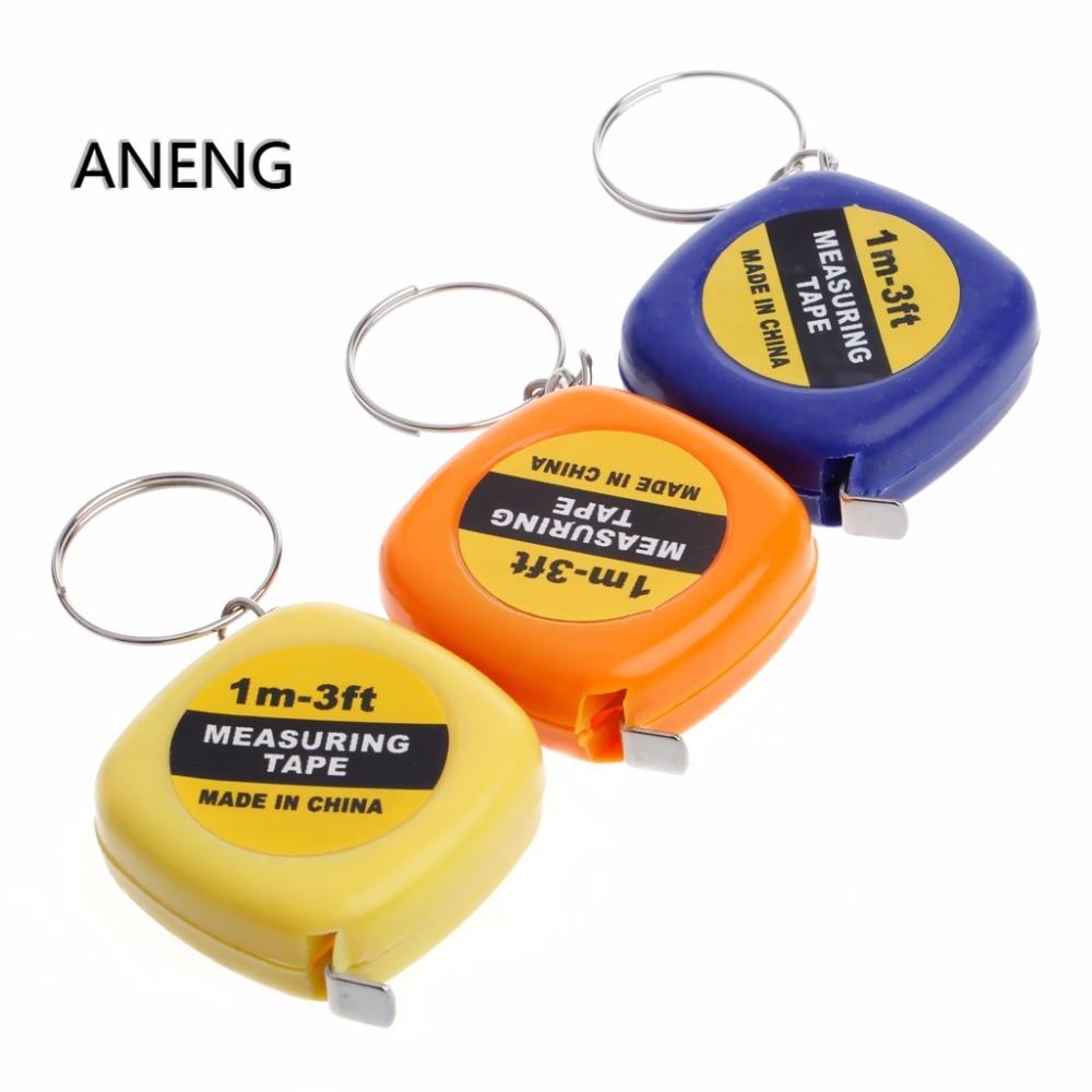 ANENG Easy Retractable Ruler Tape Measure Mini Portable Pull Ruler Keychain 1m/3ft