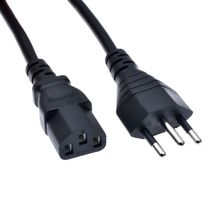 Brazil General Power cord,Brazil to C13 supply cables,NBR cables,110~250VAC 10~15A,1.5m