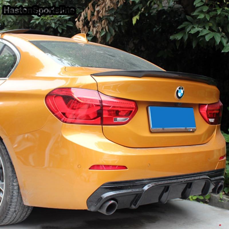 F52 modifié M Style de Performance en Fiber de carbone coffre arrière coffre à bagages aileron aile de voiture pour BMW 118i berline 2017 2018