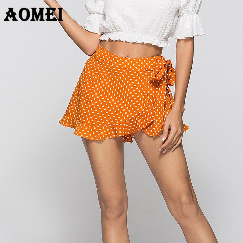 New Womens Falbala High Waist Skorts Holiday Ladies Casual Skirt Shorts Hotpants