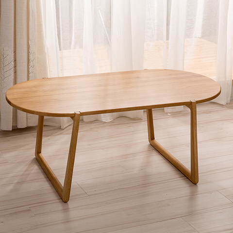Nordic IKEA Creative Oval Coffee Table Round Coffee Table Modern Minimalist  Fashion White Oak Wood Coffee Table In Coffee Tables From Furniture On ...