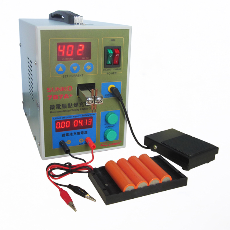 Upgrade POWER 787A+ MCU Spot Welder Battery Welder Applicable Notebook and Phone Battery Precision Welding Pedal power 787a mcu spot welder battery welder applicable notebook and phone battery precision welding pedal with free nickel plates