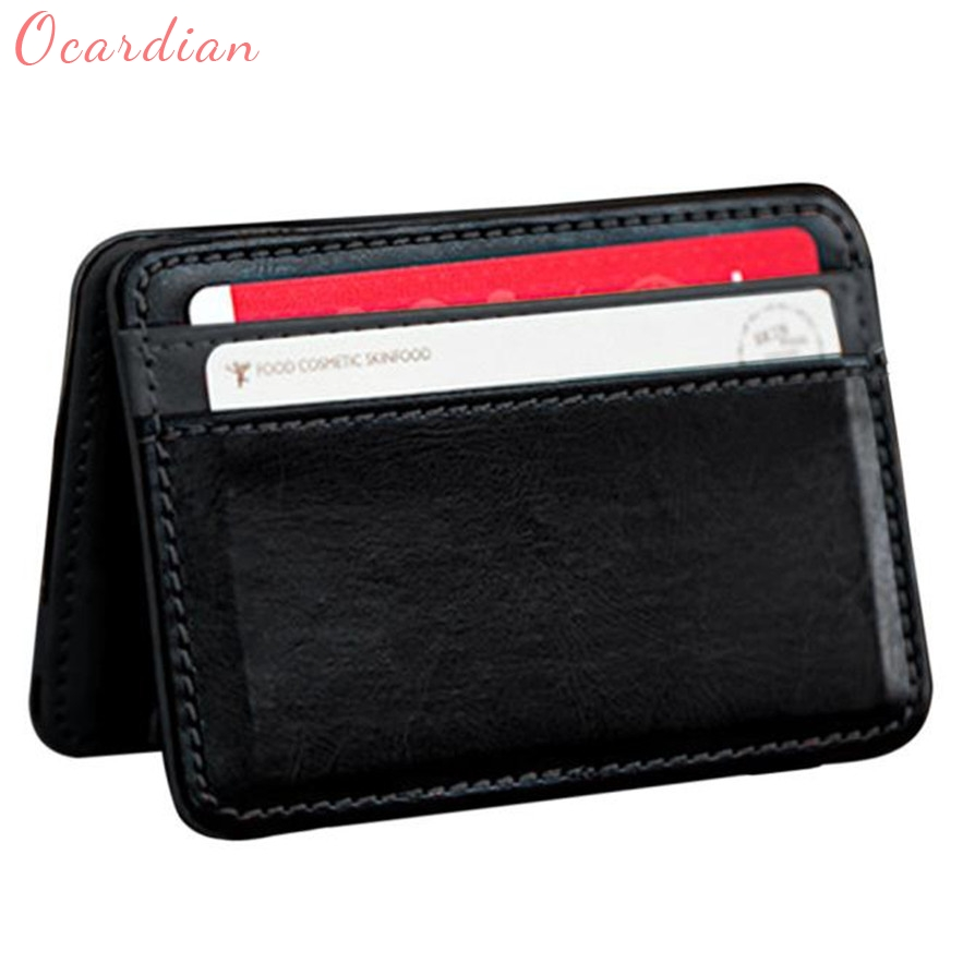 OCARDIAN New Fashion Mini Unisex Magic Bifold Panelled PU Leather Wallet Card Purse Clip 29S61123 Mar 21 zelda wallet bifold link faux leather dft 1857