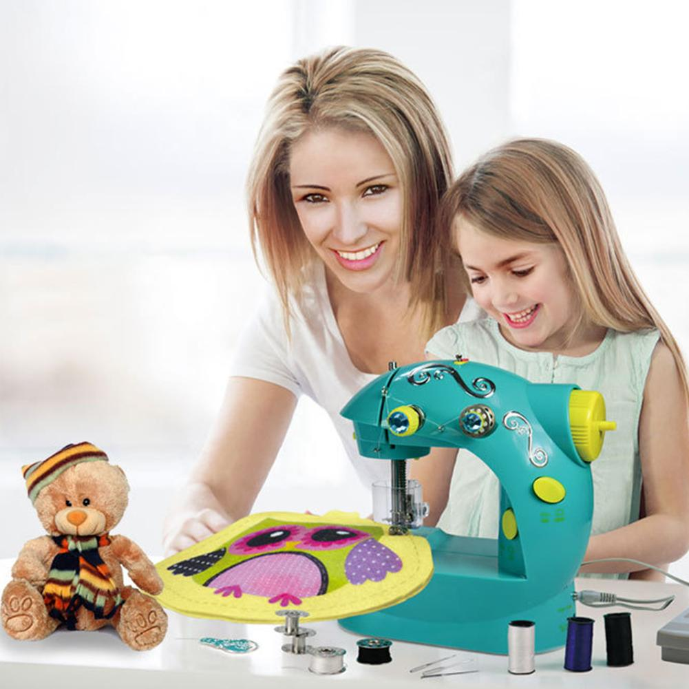 Multi-function Household Electric Mini Small Portable Miniature Children's Toy Sewing Machine Without Board 1pc multi function 565 electric household sewing machine desktop overcastting thick