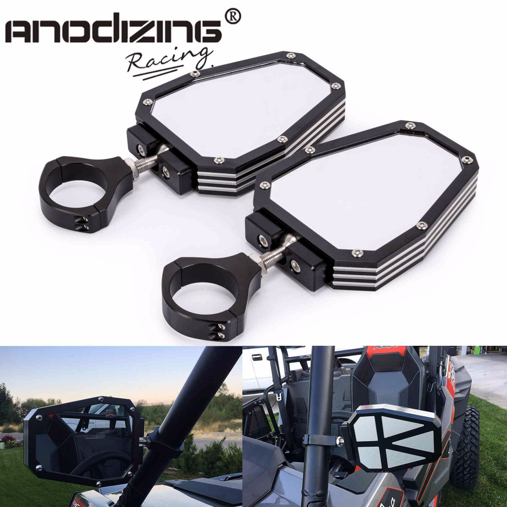 Aluminium Alloy 1.75 inch UTV Offroad Side View Mirror Break Away with Ball Universal Joint for Polairs RZR 1000 XP