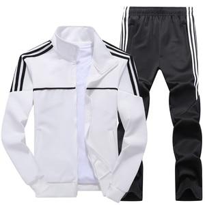 Image 4 - Set di Autunno della Molla dei nuovi Uomini Uomo Sportswear 2 Pezzi Set Vestito di Sport Jacket + Pant Tuta Maschile Tuta Asia formato L 4XL
