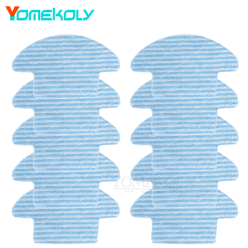 10pcs Mop Cloth For Haier Robot Vacuum Cleaner T320 Reusable Replacement Mopping Cloth Robot Vacuum Cleaner Parts 12pcs lot high quality robot vacuum cleaner wet mop hobot168 188 window clean mop cloth weeper vacuum cleaner parts