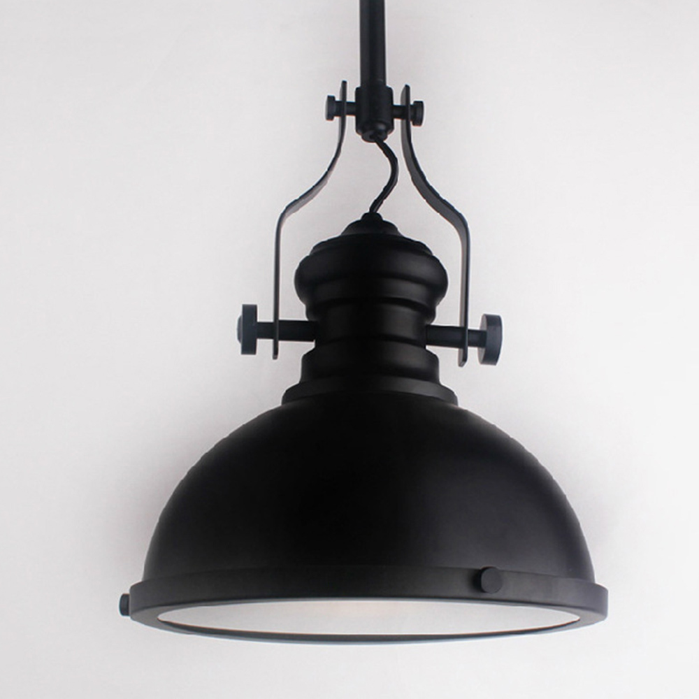 Loft America Country Black Pendant Light Bar Cafe Droplight E27 Decorative Fixture Lighting Brief Style Nordic Design In Lights From