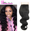 "8A Peruvian Virgin Hair Body Wave Lace Closure Body Wave Virgin Peruvian Lace Closure Body Wave Human Hair 4""x4"" Lace Closure"