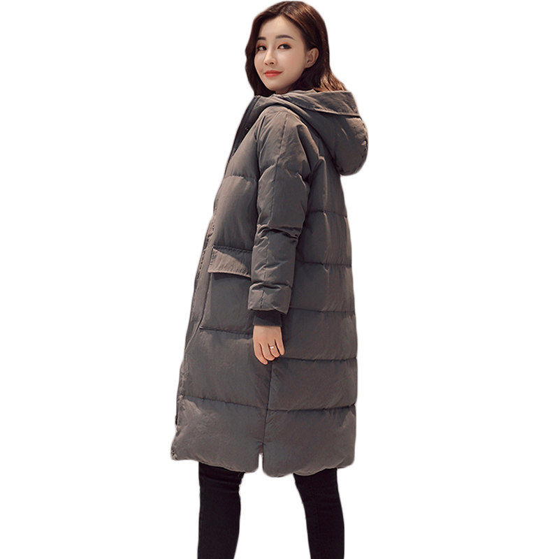 Winter Warm Thicken Long Parkas 2017 Fashion Slim Hooded Down Cotton Padded Jacket Coat Oversized Women Coats Zipper Overcoat new mens warm long coats lady cotton warm jacket padded coat hooded parkas coat winter top quality overcoat green black size 3xl