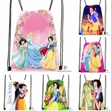 CustomSnow White Seven Dwarfs #1 Drawstring Backpack Bag Cute Daypack Kids Satchel (Black Back) 31x40cm#180531-02-34