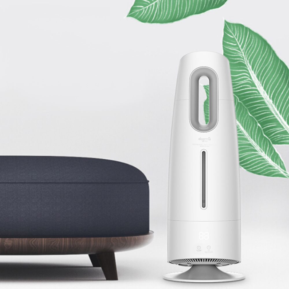 Original Xiaomi DEERMA 4L Air Humidifier Mist Maker Touch Screen Oil Diffuser Air Purifying Air-Conditioned For Home Room Office