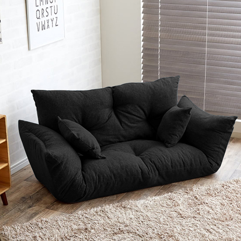 Modern folding sofa bed adjustable arm reclining back for Sofa and 2 chairs living room