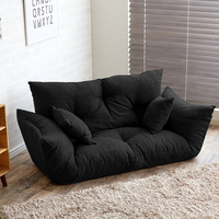 Modern Folding Sofa Bed Adjustable Arm Reclining Back Living Room Furniture Home Double Sofa Couch 2