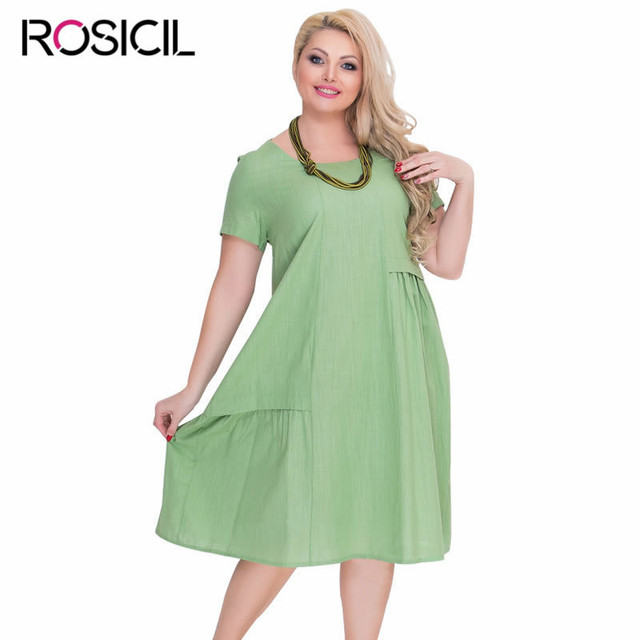 5e1d278b46 New A Line Ladies Dresses Plus Size Casual Loose Summer Short Sleeve Dress  Women Elegant Party Dress Sundress Vestidos De Festa