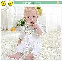 2019 1Pcs Infant Kids Baby Unisex Feeding Saliva Towel Dribble Triangle Bandana Bibs Burp Cloths Gifts