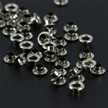 100 pièces vêtements couture oeillets rond intérieur trou 5mm métal oeillets pour chaussures vêtement vêtements ménage tailleur accessoires
