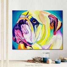 Lgemlde Auf Leinwand Wandbilder Gemlde Fr Wohnzimmer Wandkunst Pop Art Hund Moderne Abstrakte Handgemalte 3
