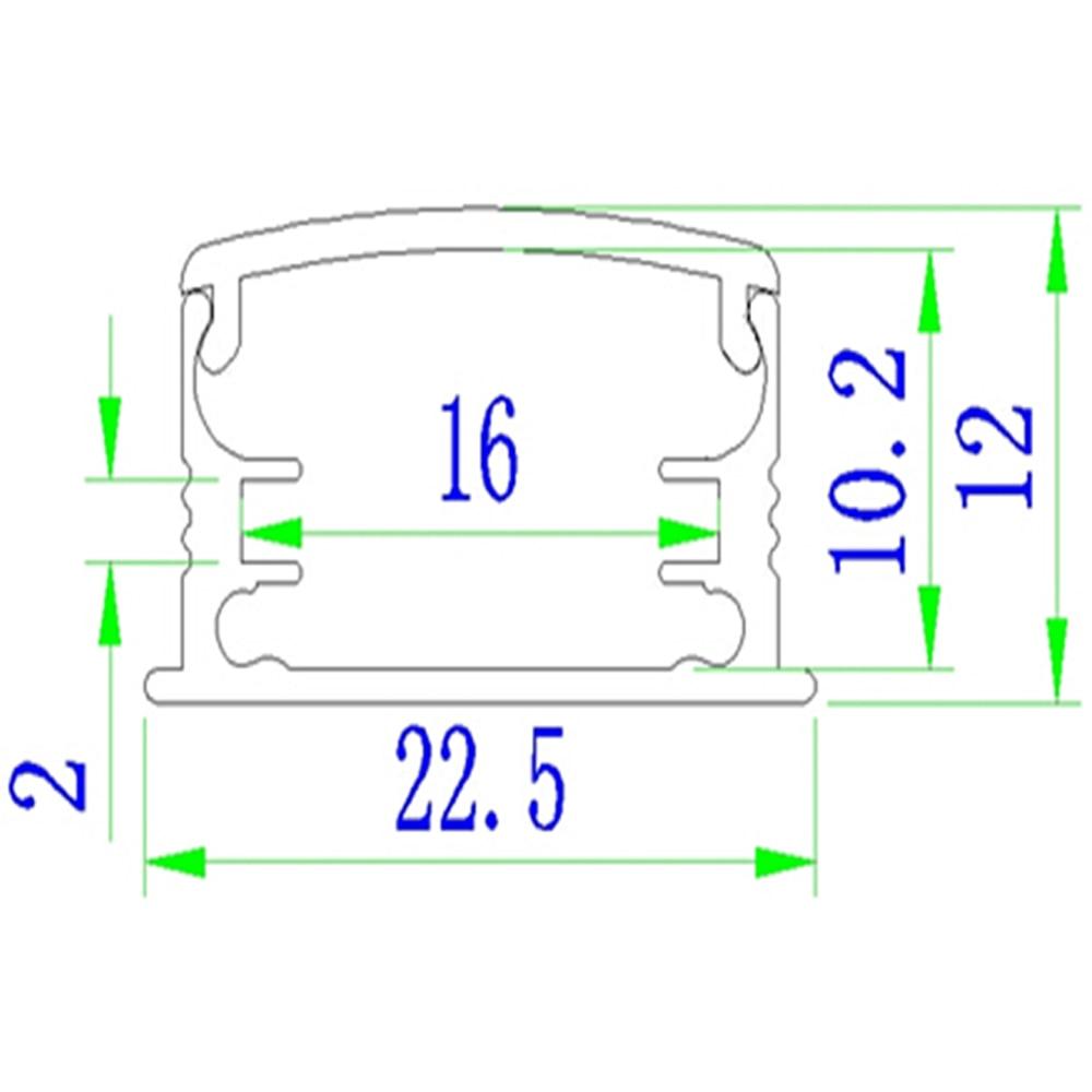 30м (30pcs) көп, бір бөлікке 1м, SN2212-1m - LED Жарықтандыру - фото 2