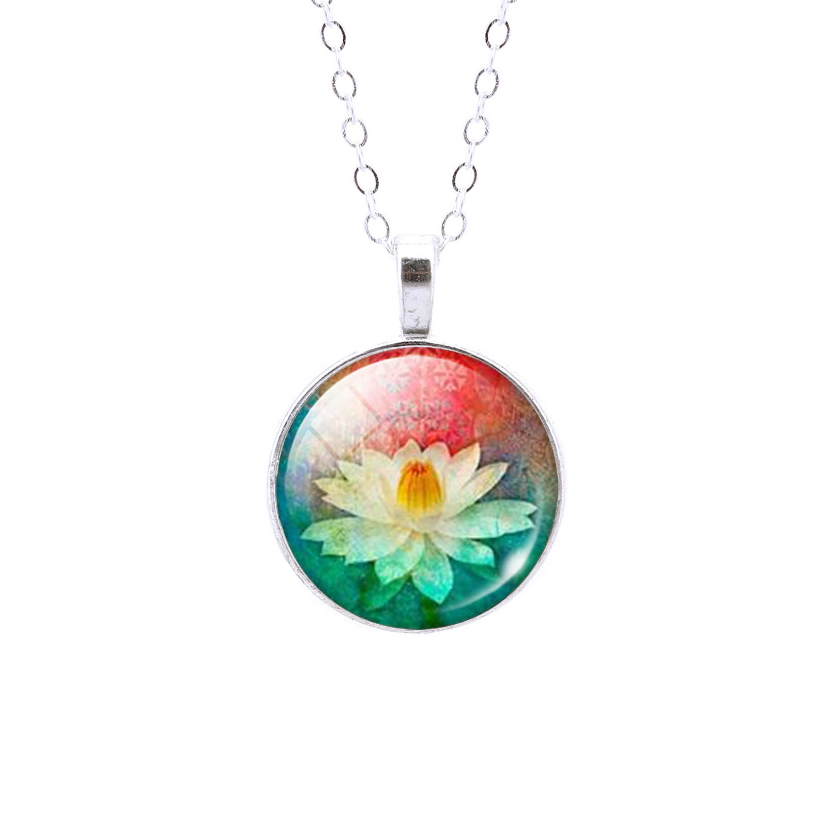 10 Kinds Charm Mandala Lotus Flower Necklace Pendant Om Symbol
