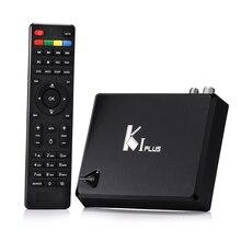 ГОРЯЧАЯ K1 ПЛЮС + T2 S2 S905 Amlogic Quad core Поддержка 64-разрядных DVB-T2 DVB-S2 1 Г/8 Г 1080 P 4 К Android 5.1 TV Box КИ Plus S2 T2