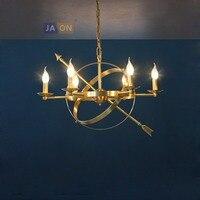 Светодио дный e14 Американский Медь Золотой глобус светодио дный лампа светодио дный свет. подвесные светильники. подвесной светильник для с