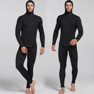 Image 3 - 남자를위한 새로운 3mm 네오프렌 다이빙 슈트 수영 서핑 점프 슈트 서핑 따뜻한 잠수복 서스펜더 바지와 자켓 2 개/대
