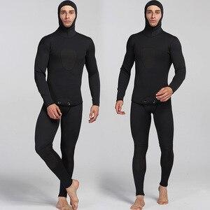 Image 3 - Traje de buceo de neopreno para hombre traje de salto de neopreno cálido para surf, pantalones con tirantes y chaqueta, 2 unidades