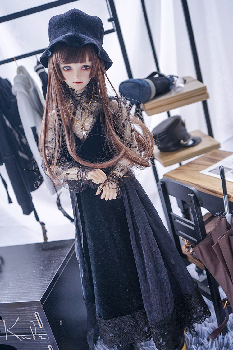 [Limited]NEW Handmade Retro Stars Black Lace Suit 1/3 1/4 SD16 SD17 SD MSD BJD Doll Clothes fashion bjd doll retro black linen pants for bjd 1 4 1 3 sd17 uncle ssdf popo68 doll clothes cmb67