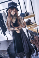 [Limited]NEW Handmade Retro Stars Black Lace Suit 1/3 1/4 SD16 SD17 SD MSD BJD Doll Clothes