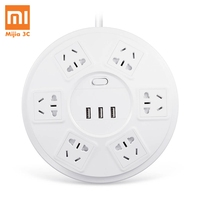 Xiaomi TP Power Strip Lightning Protection 6 Ports with 3 USB 2500W 10A Fast Charge 2.1A USB Surge Protect Power Plug Charge