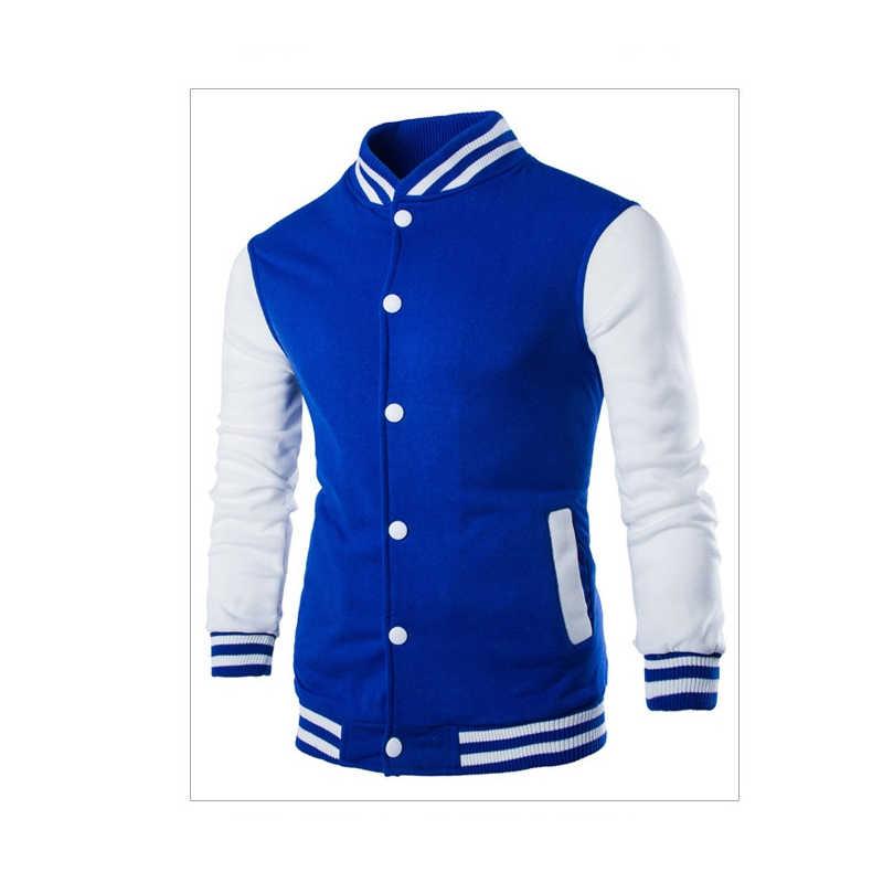 Новая модная зимняя куртка мужская больших размеров бейсбольная Верхняя одежда