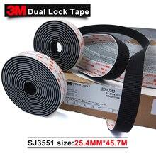 100% 3 M thương hiệu Ban Đầu các sản phẩm Màu Đen Acrylic băng keo hai mặt SJ3551 kép băng khóa 1 trong * 50 yards 1 cuộn kết dính băng