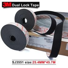 100% 3 m 원래 브랜드 제품 블랙 아크릴 양면 테이프 sj3551 듀얼 잠금 테이프 1*50 야드 1 롤 접착 테이프