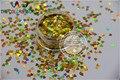 Tamaño 3mm láser holográfico TCA200 color Oro Corazón Del Brillo Del paillette lentejuelas forma para Uñas de Arte y DIY supplies1pack = 50g