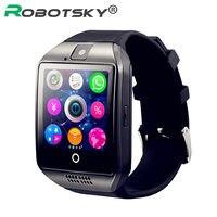 Bluetooth Apoio TF cartão Com Câmera Relógio Inteligente lembrete mensagem para Das Mulheres Dos Homens de Moda Relógios de Pulso para Android Smartwatch