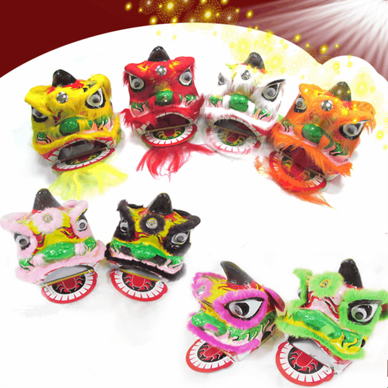By Express handmade chinese lion dance costume for children chinese lion dance head kids lion dance