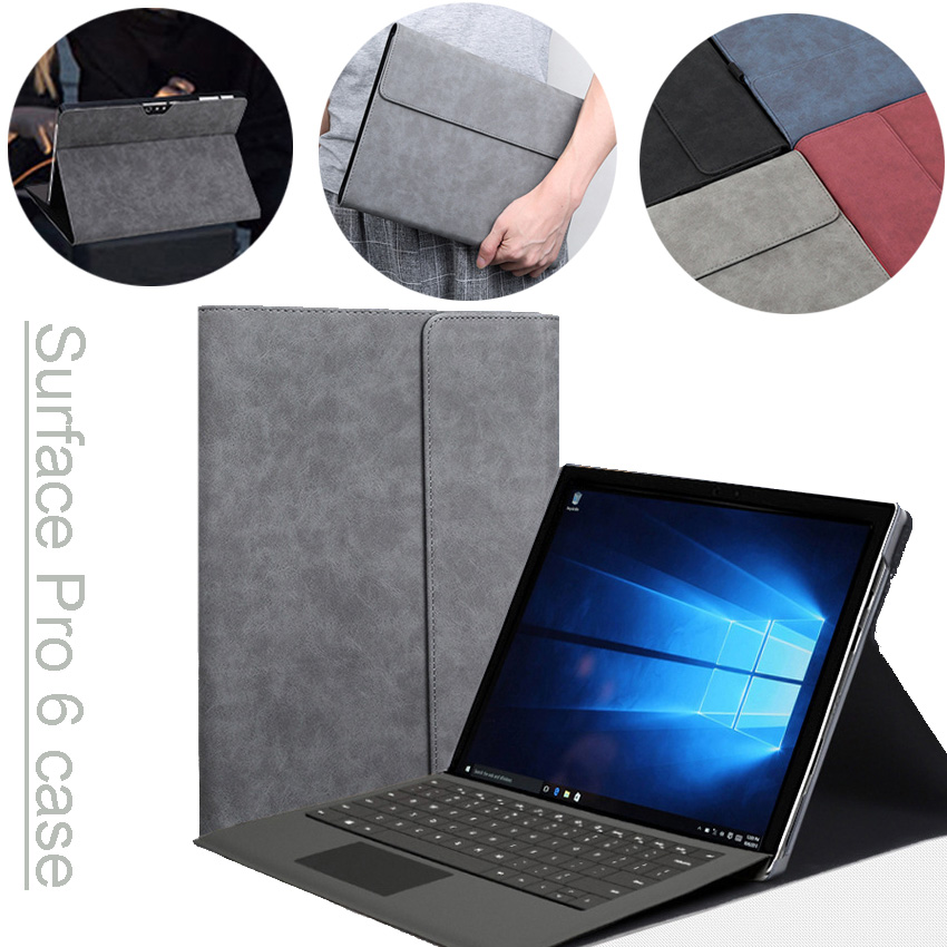 Laptop Case for Microsoft Surface Pro 6 Tablet Magnetic Stand Cover for Surface Pro6 12.3 Inch Compatible with Original Keyboard