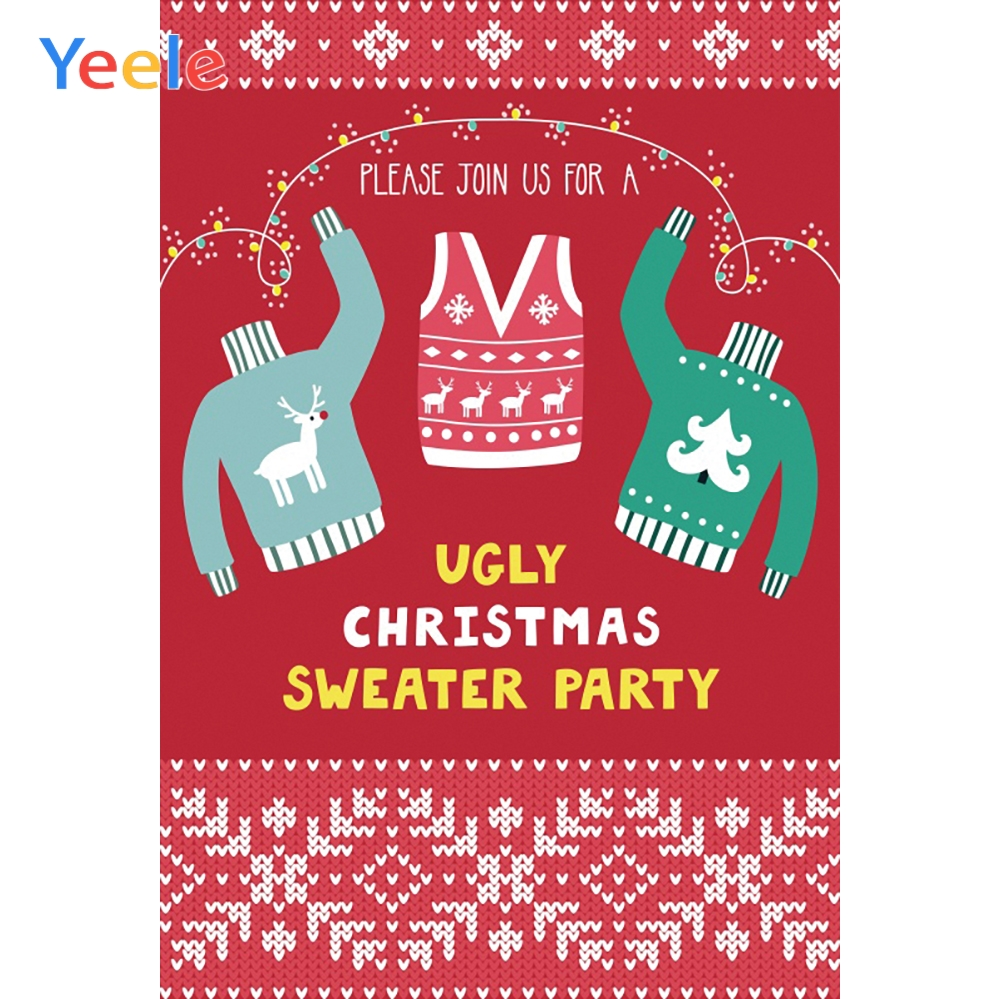 Yeele Ugly Sweater Party Photography Backdrops December Winter Meeting Professional Photographic Backgrounds For Photo Studio