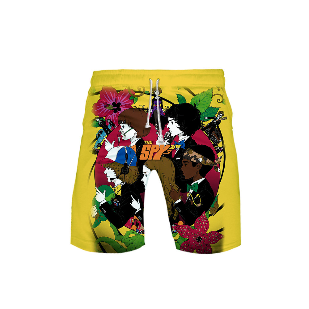 3D Stranger Things Mens <font><b>Board</b></font> <font><b>Shorts</b></font> Summer Beach Surf <font><b>short</b></font> Pants Quick Drying Swimwear Male Swim <font><b>Shorts</b></font> <font><b>6XL</b></font> Swimming Trunks image