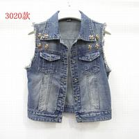 New Spring Short Denim Women S Vest 2017 Casual Slim Colete Feminino Sleeveless Jeans Jackets Coat