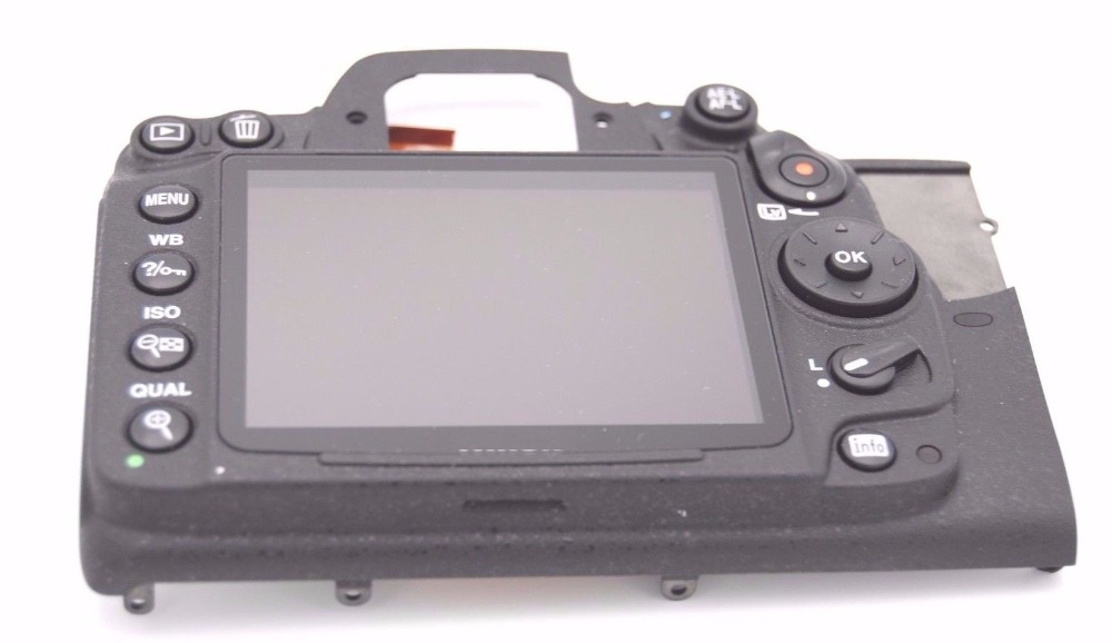 FREE SHIPPING! 90%new For NIKON D7000 REAR BACK COVER With LCD SCREEN REPLACEMENT REPAIR PART d7000 rear back cover shell with lcd button fpc for nikon d7000 for nikon