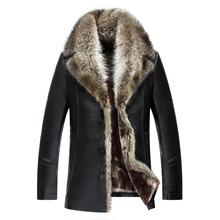 Hot Winter Genuine Leather Jacket Men Fur Coats Brand High Q