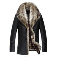 Hot Winter Genuine Leather Jacket Men Fur Coats Brand High Quality Outerwear Mens Brand Business Sheepskin Male Jacket M 4xl