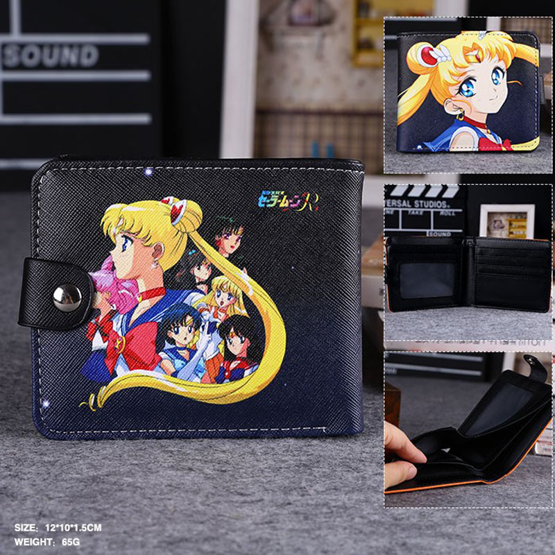 Surprise In This Summer: Anime Sailor Moon High Quality Synthetic Leather Exquisite Wallet/Button Purse billetera sailor moon