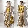 Mãe elegante Da Noiva Vestidos de Renda Padrão Especial de Duas Peças Longo Mãe Vestidos de Ouro Sash Vestidos de Festa de Casamento Para A Mãe