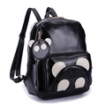 WELLVO Brand 2016 New Fashion School Backpack Women high quality pu leather panda girl and body Backpacks Mujeres Mochila XA487B