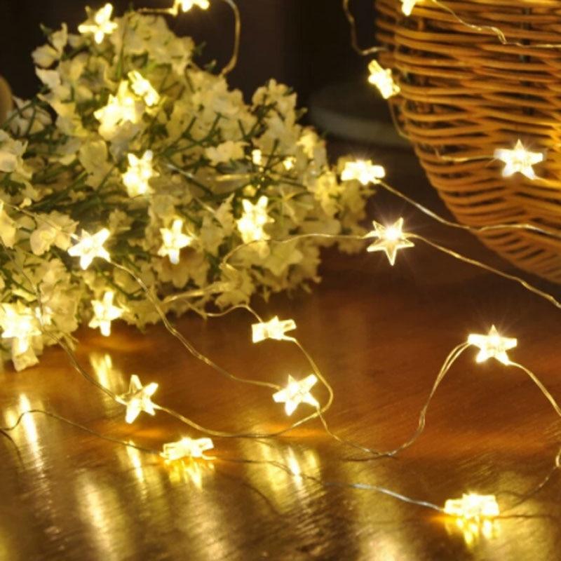 SPLEVISI 3M 30LED Battery Powered Star Xmas Christmas Wedding String Lamp Fairy Starry Light Festive Party Decorative Lights