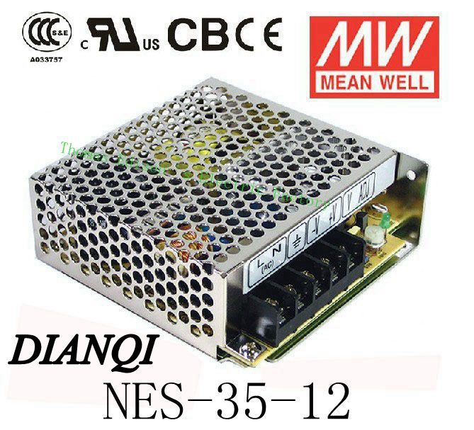 12V 3A MEANWELL Original  power suply unit NES-35-12 35W ac to dc power supply meanwell 12v 100w ul certificated nes series switching power supply 85 264v ac to 12v dc