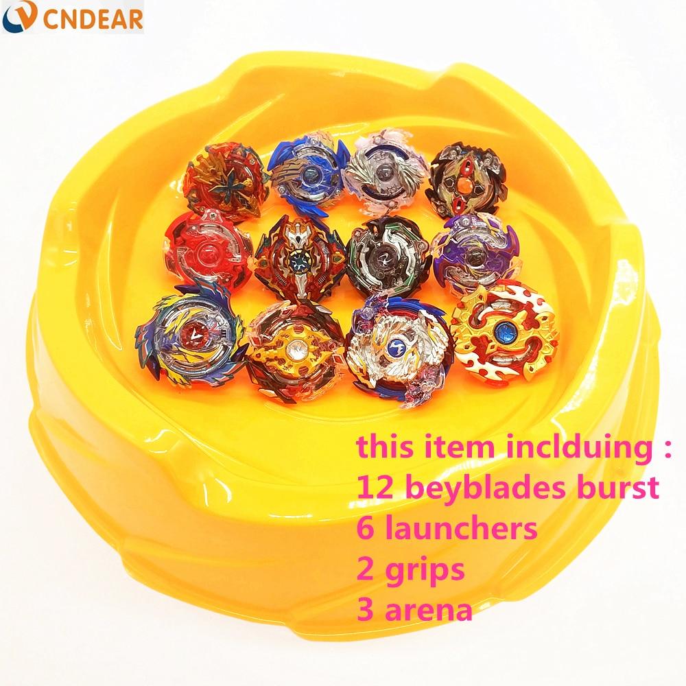 Beyblade arena orange stadium Beyblade Burst With Launcher handles Beyblade Toy B48 B66 B59 B34 B35 B41 B73 B74 B86 B92 B97 B100